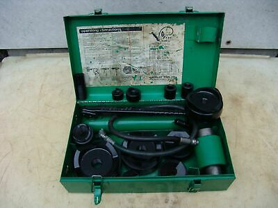 Greenlee 7310 Hydraulic Knockout Punch And Die Set 34 To 4  111419 2