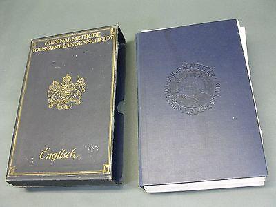 ANTIQUE TOUSSAINT LANGENSCHEIDT DICTIONNAIRE 1908