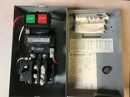 General Electric GE CR306H100ABA Size 00 Motor Starter In Enclosure; 120V Coil