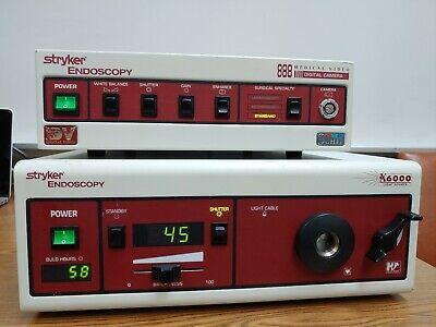 Stryker 888 Endoscopy X6000 Light Source No Camera Only The 2 Units