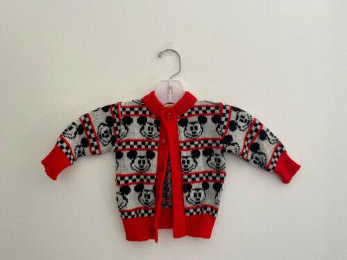 Vintage Catton Bros Disney Kids Cardigan Sweater sz Newborn to 6 Mos