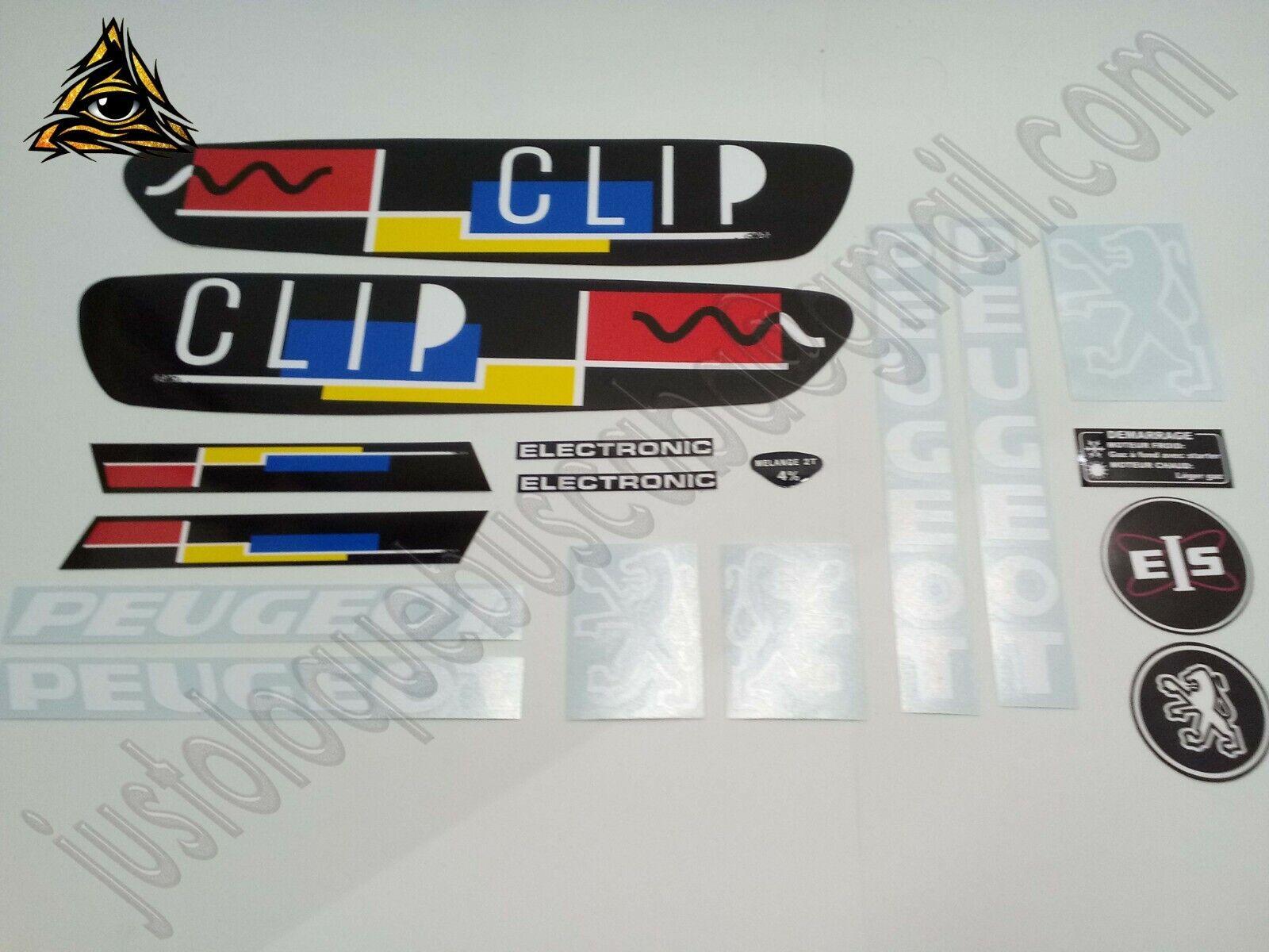 Autocollant stickers Peugeot 103 CLIP Noir