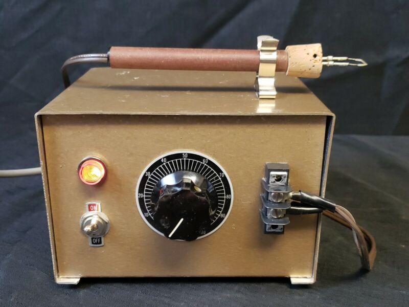 Wood Burner Pyrography Tool Variable Adjustable Machine w/ Pen & Tip Woodburner