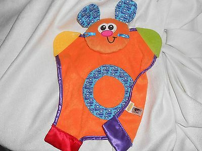infantino orange dog puppy bunny lovey security blanket teether terry cloth