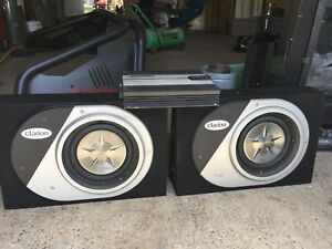 "10"" clarion subs and amp"