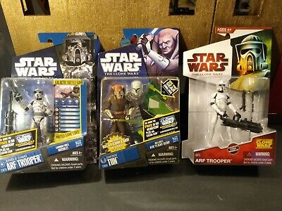 Star Wars Clone Wars Camo ARF, Trooper & Saesee Tiin New / slight wear