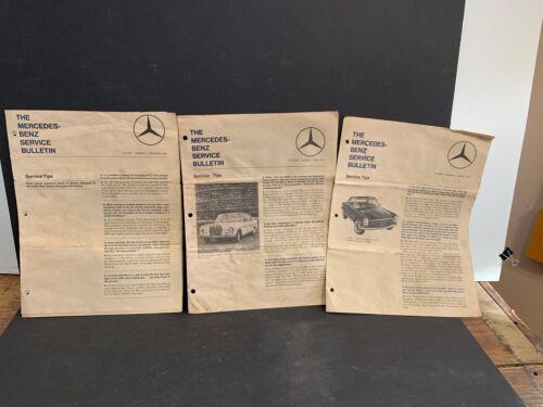 3 Mercedes-Benz Service Bulletins, Dec