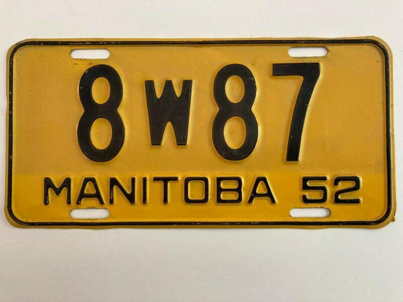 1952 Manitoba License Plate All Original NICE
