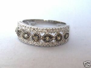 7-Stone-Champagne-Brown-Diamond-Eternity-Ring-Sterling-Silver-925