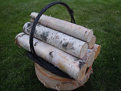 WHITE BIRCH LOG SET OF 6 LOGS FOR FIREPLACE HEARTH MANTLE DECOR RUSTIC CRAFTS