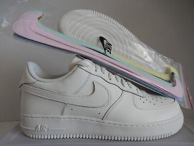 """NIKE AIR FORCE 1 07 QS """"ALL STAR REPLACEABLE SWOOSH"""" WHITE SZ 14 [AH8462-102]"""
