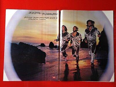 """BIG 14x22 BEE GEES """"5 PLATINUM LPs"""" (SATURDAY NIGHT FEVER) LP ALBUM CD PROMO AD"""
