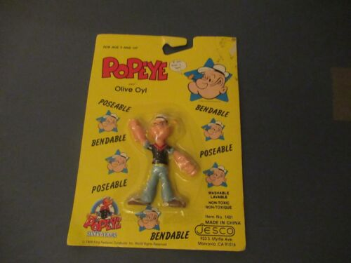 Popeye bendable figure from JESCO NEW on card