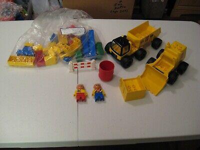 Vintage Lego Duplo 2814 Big Wheels Road Worker Set