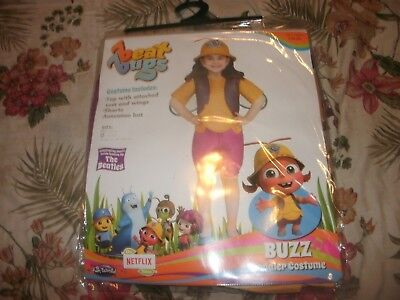 NEW Beat Bugs BUZZ Halloween Costume Toddler Girls S 2T/3T or L 3T/4T   (B166) - Toddler Bug Costumes