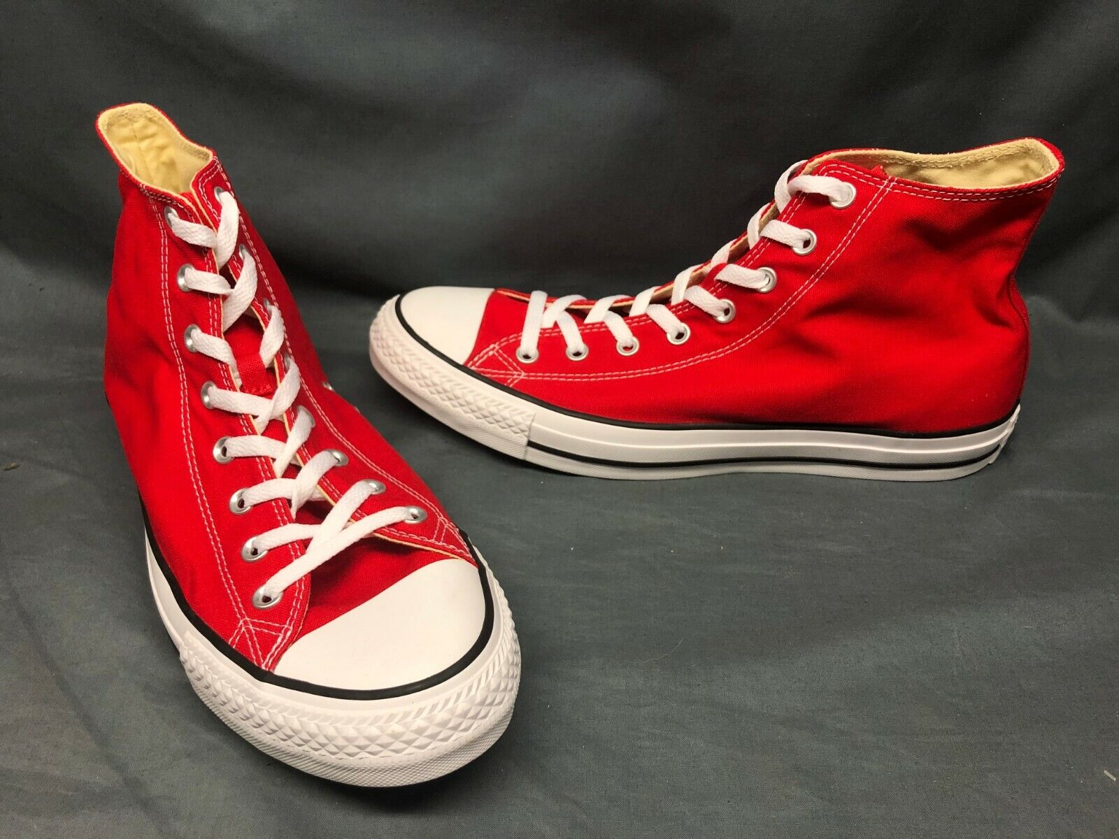 Converse Men's Chuck Taylor All Star High Sneakers Red Size
