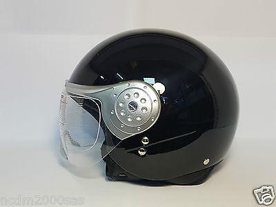 411 Helm Demi-Jet mit Visier Ad Brillen und Kontaktlinsen Motorroller Helmet