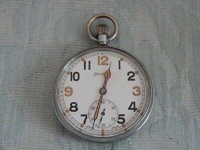 Original GS/TP HELVETIA Military Pocket watch, working & stunning original dial