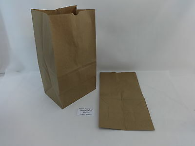 Qty 100 #25 Paper Brown Kraft Natural Grocery Shopping Merchandise Retail Bags