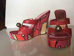 Emilio Pucci pink patent leather wedges size 39 Bardon Brisbane North West Preview