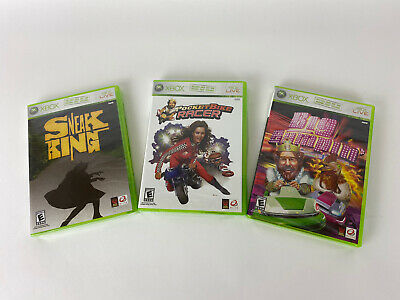 Xbox Burger King Games Sealed New!! Sneak King, Big Bumpin', Pocket Bike Racer