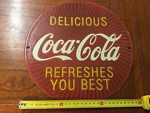 Vintage round Coca Cola sign Scarsdale Golden Plains Preview