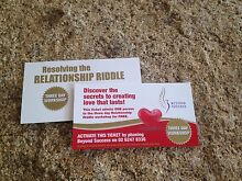 2 x Resolving the Relationship Riddle Tickets - 3 day workshop Gladstone Dorset Area Preview