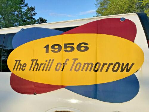 HUGE 1956 PACKARD THRILL DEALER PROMOTIONAL WINDOW POSTER ADVERTISING BILLBOARD
