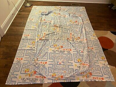 """1980s Vintage """"PAC-MAN"""" Twin {Bed} """"FITTED/FLAT SHEETS & PILLOWCASE"""" Set, RARE!"""