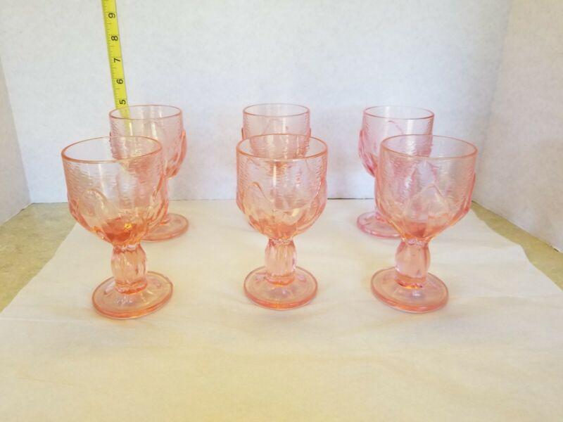 Tifftin  Franciscan Cabaret  Pink Goblets set of 6