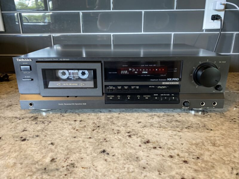 Technics RS-BR465 Stereo Cassette Deck Auto-Reverse Tested!
