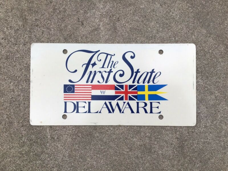 DELAWARE - THE FIRST STATE - BOOSTER - LICENSE PLATE