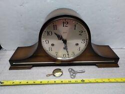 Vintage 1967 Linden Triple Chime Mantel Clock Cuckoo Clock Mfg. Co Germany Works