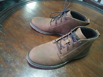 CAT Caterpillar Mens Brown Leather Chukka Boots Size US 9.5 M NEW