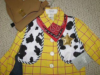 Woody Dress Up Costume (NEW Disney Store WOODY costume Toy Story sz 7/8 cowboy Halloween dress)