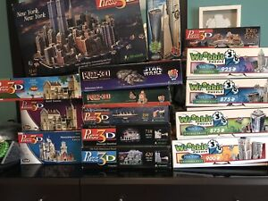 Massive Collection of Wrebbit and Puzz 3D Puzzles