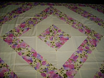 "Hole SALE-R Kaufman ""Fiori-B"" #115567-Quilt Top + Binding Fabric- 50% off"