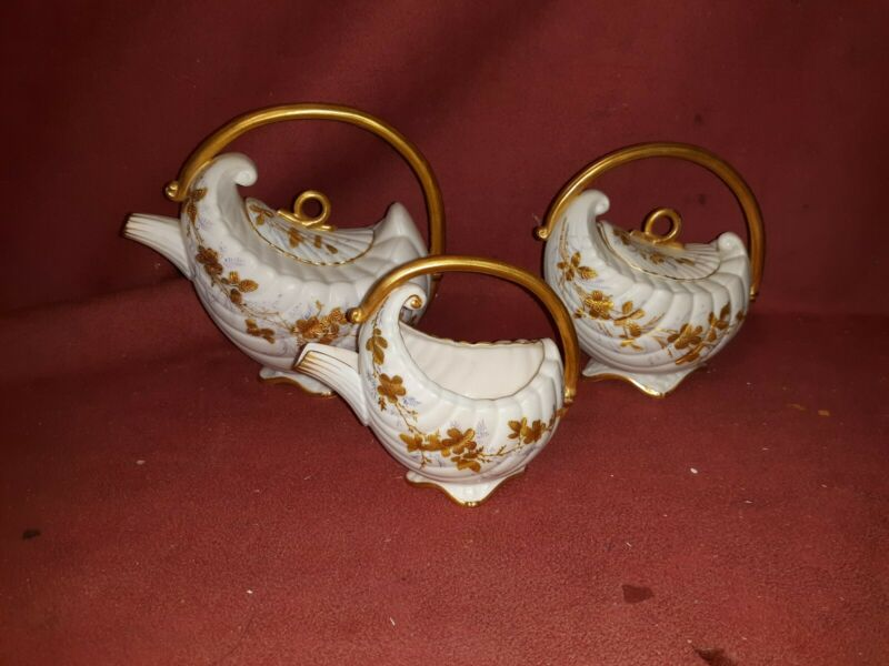Antique Lenox Belleek Porcelain Tea Set