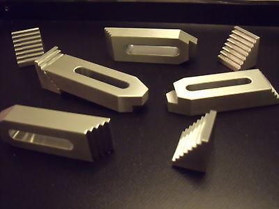 4 Aluminium Spannpratzen mit Treppensteinen,M8,Spanneisen,Fräsen,Gravieren,