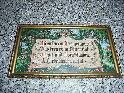 altes Bild Spruchbild Liebesspruch 50er