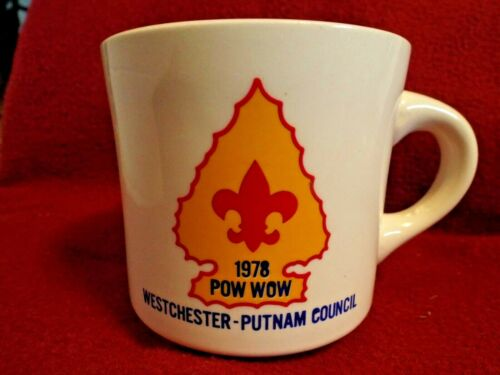 1978  POW WOW WESTCHESTER PUTNAM COUNCIL  Boy Scouts of America Coffee Mug Cup