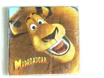 Madagascar Party Supplies (NEW~MADAGASCAR 16- PAPER DESSERT NAPKINS -  -PARTY SUPPLIES )