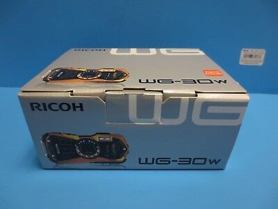 Ricoh WG-30w Flame Orange Digital Camera with 2.7-Inch LCD Waterproof