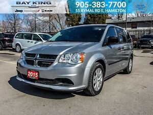 2015 Dodge Grand Caravan STOW'N'GO, ONE OWNER, ACCIDENT-FREE, TI