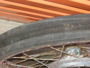 VINTAGE MOTORCYCLE WHEEL  HIGH WIRE STUNT BIKE MAN CAVE COLLECTORS Hillcrest Logan Area Preview