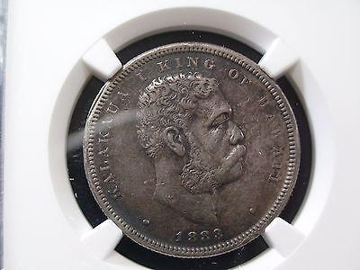 1883 Hawaii Half Dollar NGC XF Details 25c Silver Coin Kalakaua Kingdom