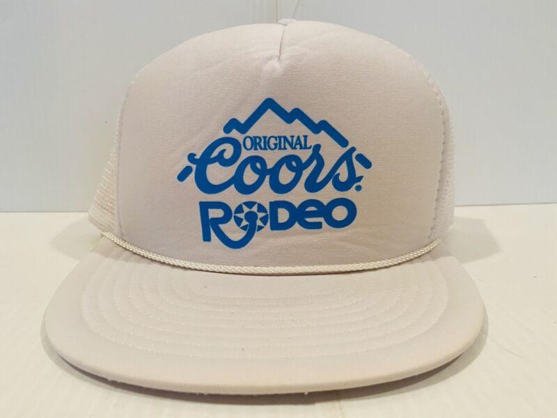 Vintage Coors Trucker Cap Snapback Mesh Coors Rodeo Original New Hat