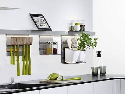 Kesseböhmer Linero MosaiQ 600 - 1800 mm Titangrau Relingsystem Küchenreling
