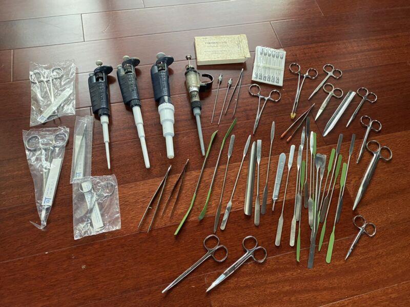 Vtg Dental Tools Medical Dr. Lot hand tools Morgue tool Movie Prop Horror