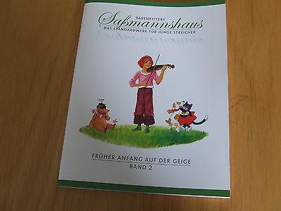Saßmannshaus Früher Anfang auf der Geige Band 2  BA 9672